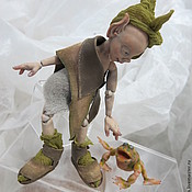 """Куклы и игрушки ручной работы. Ярмарка Мастеров - ручная работа Авторская живая игрушка. Шарнирная кукла  эльф """"Леси Жадина"""".. Handmade."""