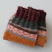 Аксессуары ручной работы. Ярмарка Мастеров - ручная работа р.22-23 детские носочки (вишневый-рыжий-коричневый). Handmade.
