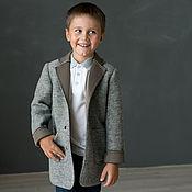 Работы для детей, ручной работы. Ярмарка Мастеров - ручная работа Шерстяной жакет для мальчика. Handmade.