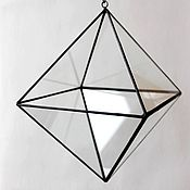 Цветы и флористика handmade. Livemaster - original item The Floriana. Floriana geometric pendant on a chain Octahedron Diamond. Handmade.