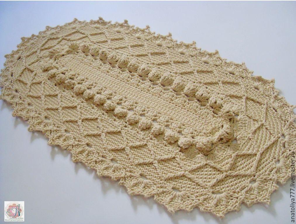 Oval rug handmade cord, Carpets, Kabardinka,  Фото №1