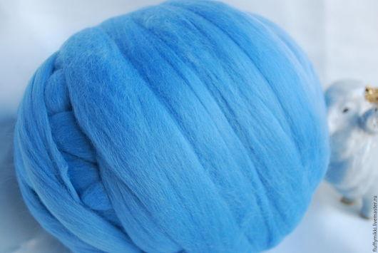Австралийский топс меринос 18 мкм №220 голубой