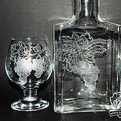 Посуда handmade. Livemaster - original item vine. Bottle and glasses of cognac.. Handmade.