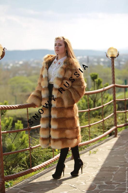 Верхняя одежда ручной работы. Ярмарка Мастеров - ручная работа. Купить Шуба из лисы. Handmade. Рыжий, Меховые жилеты