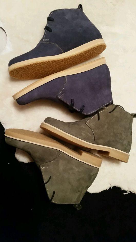 Обувь ручной работы. Ярмарка Мастеров - ручная работа. Купить Дезерты женские. Handmade. Дезерты полуботинки, натуральная кожа