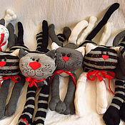 Куклы и игрушки ручной работы. Ярмарка Мастеров - ручная работа Полосатые коты с характером Тигра. Handmade.