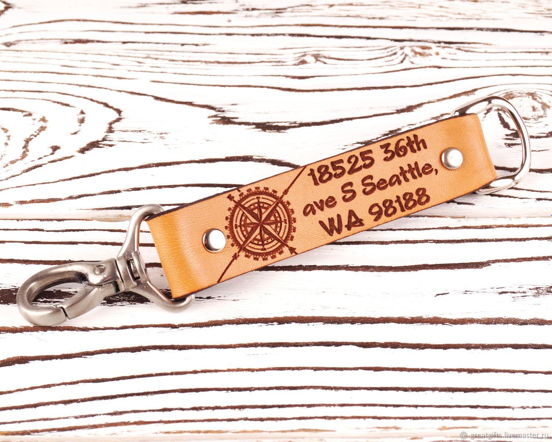 Брелок из кожи с персональной гравировкой, Брелок, Одесса,  Фото №1