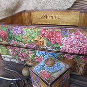 """Для дома и интерьера ручной работы. Ярмарка Мастеров - ручная работа Ящик-короб для кухни  """"Цветы в моем саду"""" декупаж. Handmade."""