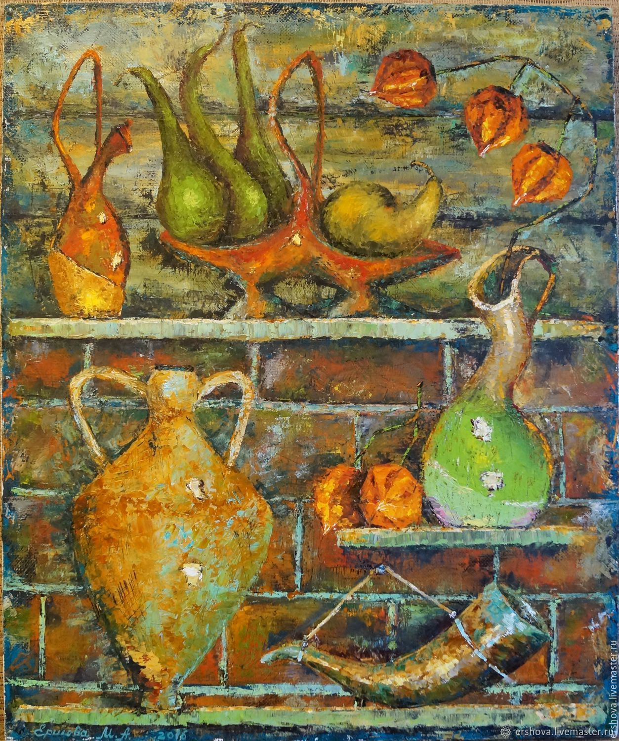 Picture. At the potter in workshop. Oil on canvas, 50x60 cm, Pictures, Ekaterinburg, Фото №1