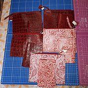 Сумки и аксессуары handmade. Livemaster - original item Set Cosmetic bag leather passport cover. Handmade.