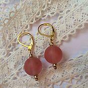 Украшения handmade. Livemaster - original item earrings: Ripe berries with watermelon quartz. Handmade.