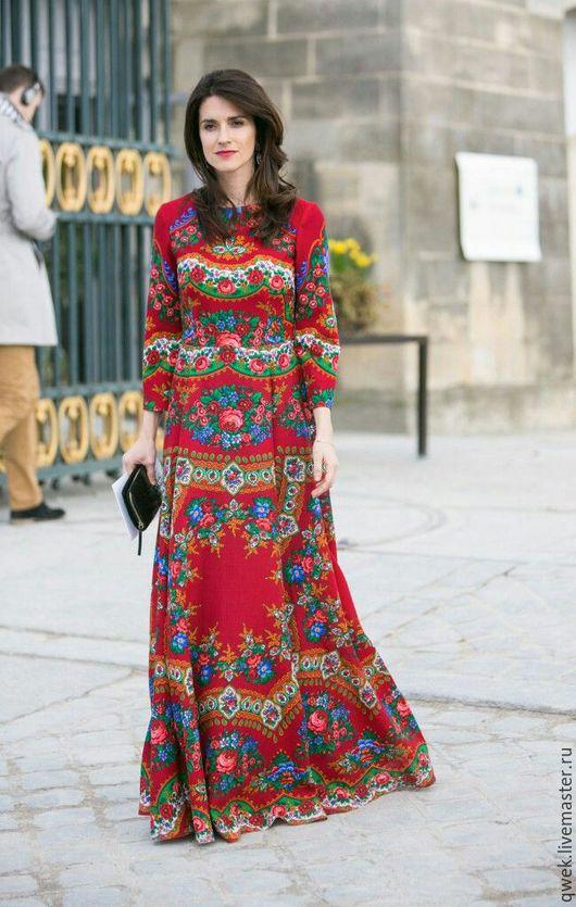 Одежда ручной работы. Ярмарка Мастеров - ручная работа. Купить Женское платье из платков. Handmade. Хлопок, крестильный набор