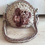 Сумки и аксессуары handmade. Livemaster - original item Bag knitted round jute Mary.. Handmade.