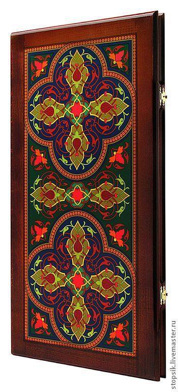 Настольные игры ручной работы. Ярмарка Мастеров - ручная работа. Купить Нарды Джинн востока (рамка из красного дерева, прямые, большие (20818). Handmade.