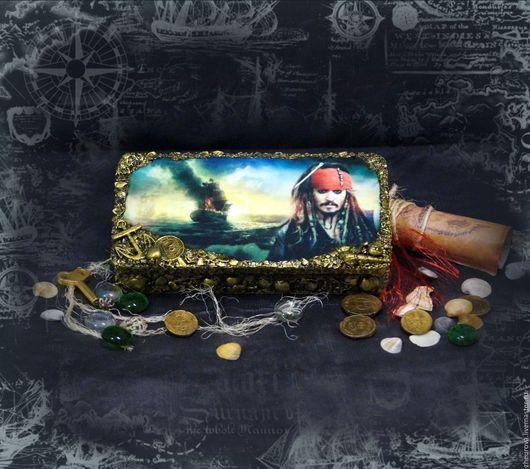 """Подарки для мужчин, ручной работы. Ярмарка Мастеров - ручная работа. Купить Купюрница """"Пираты Карибского моря - Джек Воробей"""". Handmade."""