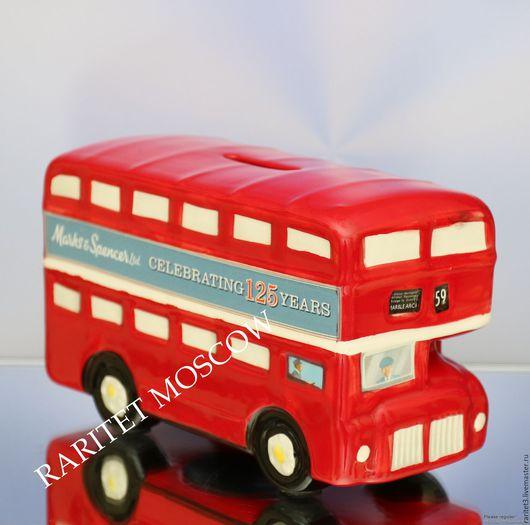 Винтажные предметы интерьера. Ярмарка Мастеров - ручная работа. Купить Автобус двухэтажный машина копилка фарфор 2. Handmade.