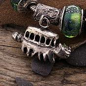 """Украшения ручной работы. Ярмарка Мастеров - ручная работа """"Котобус"""" серебряная бусина для браслетов. Handmade."""