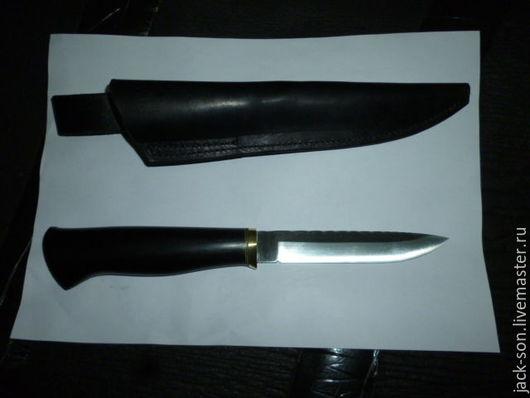 Быт ручной работы. Ярмарка Мастеров - ручная работа. Купить нож кованый. Handmade. Черный, нож, кожа натуральная