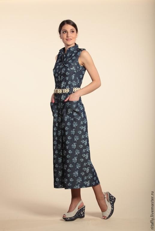 3bfda216916c0f9 281: Летнее длинное платье-халат из джинсы – купить в интернет ...