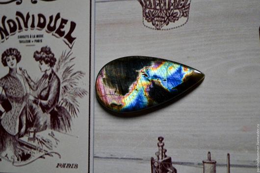Для украшений ручной работы. Ярмарка Мастеров - ручная работа. Купить Лабрадорит спектролит. Кабошон 46 Х 23 Х 5. Handmade.