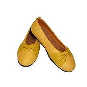 """Обувь ручной работы. Ярмарка Мастеров - ручная работа Валяные туфли балетки """"Кокетка"""" нуновойлок, натуральная кожа. Handmade."""