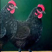 Картины и панно ручной работы. Ярмарка Мастеров - ручная работа Куры. Handmade.
