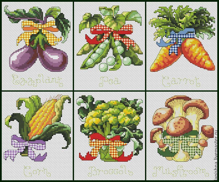 Схемы вышивки крестом для кухни 99