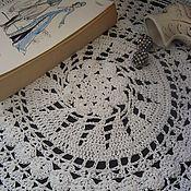 Для дома и интерьера ручной работы. Ярмарка Мастеров - ручная работа Круглая ажурная салфетка Орхидея. Handmade.