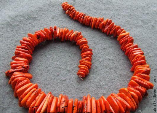 Для украшений ручной работы. Ярмарка Мастеров - ручная работа. Купить полунить чипсы 9-32 мм тонированный говлит. Handmade.