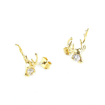 Decorations handmade. Livemaster - original item Earrings with cubic Zirconia