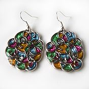 Украшения handmade. Livemaster - original item Earrings stained glass. Handmade.