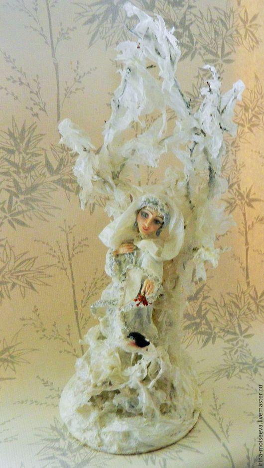Коллекционные куклы ручной работы. Ярмарка Мастеров - ручная работа. Купить Зима. Handmade. Белый, оригинальный подарок