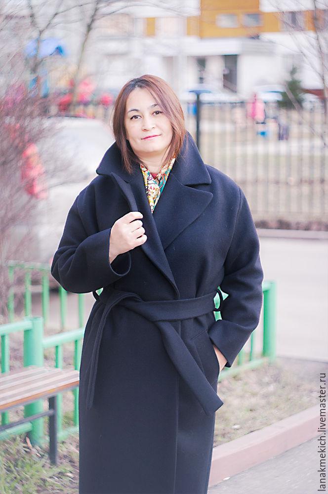 Coat with belt 'Black', Coats, Moscow,  Фото №1
