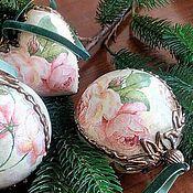 """Подарки к праздникам ручной работы. Ярмарка Мастеров - ручная работа Новогоднее украшение """" Английские розы"""". Handmade."""