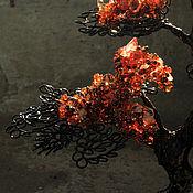 """Цветы и флористика ручной работы. Ярмарка Мастеров - ручная работа Бонсай """"Огонь в ночи"""". Handmade."""