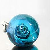 Украшения handmade. Livemaster - original item Copy of Pendant ball galaxy Space. Silver Glass Universe Necklace. Handmade.