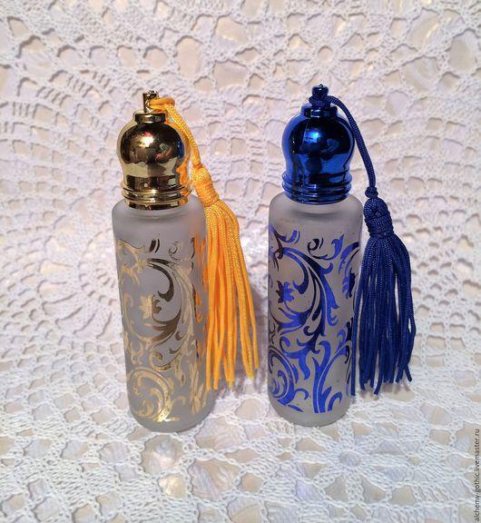 Роллер 10 мл, цвет золотой и синий, 320 руб