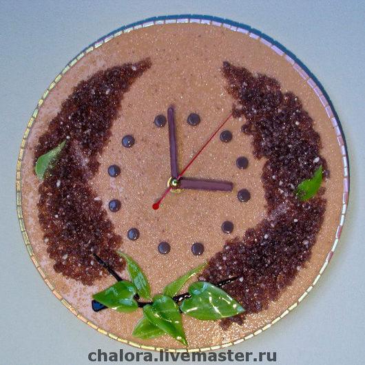 """Часы для дома ручной работы. Ярмарка Мастеров - ручная работа. Купить Настенные часы """"Сирень"""". Handmade. Часы, часы фьюзинг"""