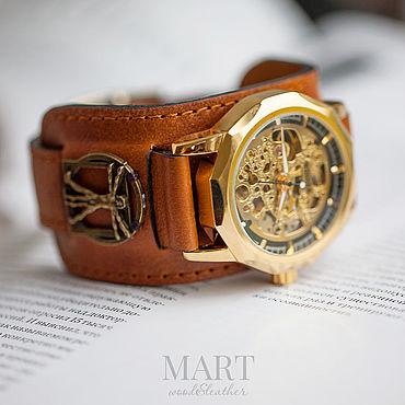 Украшения ручной работы. Ярмарка Мастеров - ручная работа Винтажные наручные часы Vitruvian. Handmade.