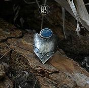 Украшения ручной работы. Ярмарка Мастеров - ручная работа кольцо с силуэтом гор, звездами и озером из кианита.Серебро. Handmade.