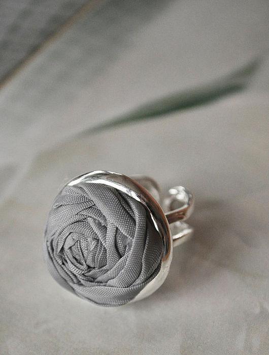 """Кольца ручной работы. Ярмарка Мастеров - ручная работа. Купить Кольцо """"Серая роза"""". Handmade. Кольцо, серебро"""