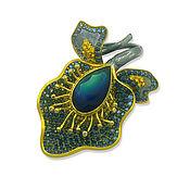 Украшения handmade. Livemaster - original item Ring iris with opal, sapphires and diamonds, gold and silver. Handmade.