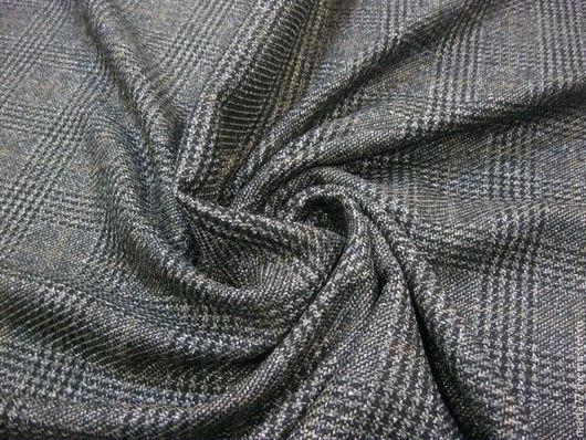 Шитье ручной работы. Ярмарка Мастеров - ручная работа. Купить Итальянская шерсть с шелком.. Handmade. Темно-серый, клетка, шерсть