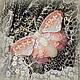 Броши ручной работы. Ярмарка Мастеров - ручная работа. Купить Брошь бисер+ жемчуг  Бабочка Розовая Нежность. Handmade. бисер