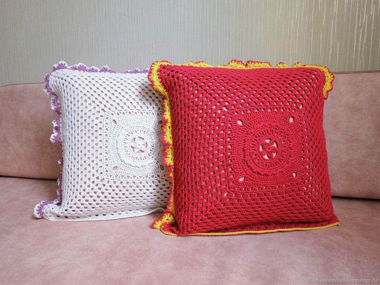 pillow cover,knitted pillow case,pillow case cushion interior,pillow case crochet,knit cotton pillow case,pillowcase 100% cotton pillowcase crochet. © https://www.livemaster.ru/item/edit/27432701