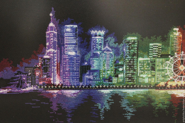 Вышивка крестом ночной город схема фото 304