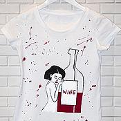 Одежда handmade. Livemaster - original item T-shirt painting