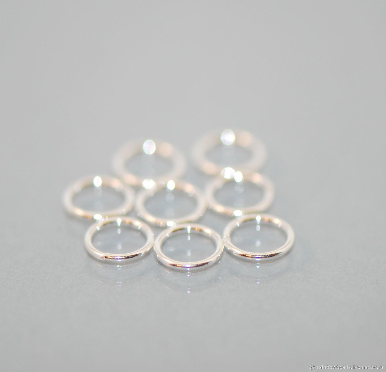 колечки соединительные серебро; серебряные соединительные колечки; кольца соединительные; соединительные кольца; фурнитура серебро 925 пробы; серебряные колечки; купить колечки серебро