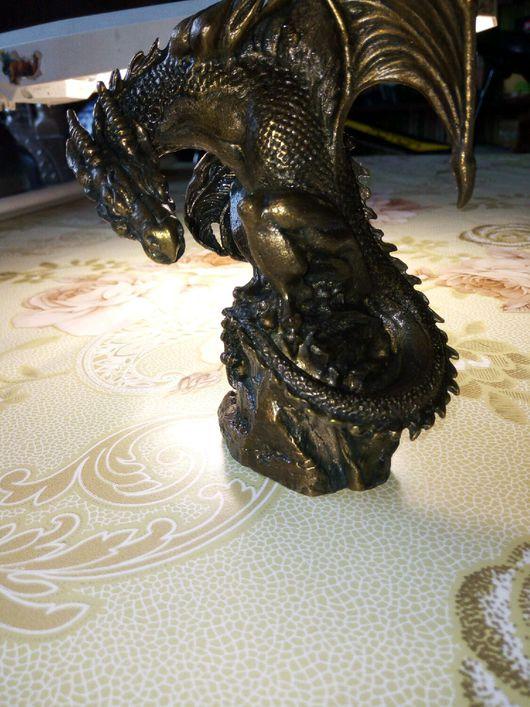 Статуэтки ручной работы. Ярмарка Мастеров - ручная работа. Купить Бронзовый дракон. Handmade. Бронзовый, дракон, Бронза ручной работы