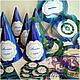 """Праздничная атрибутика ручной работы. Ярмарка Мастеров - ручная работа. Купить """"Павлинье перо"""" - набор праздничных атрибутов. Handmade. Колпак"""